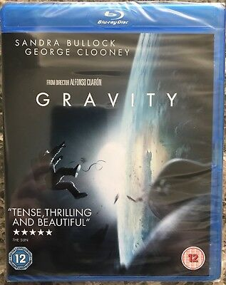 Gravity (Blu ray) (2013) (NEW & SEALED) (Region Free)