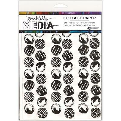 Dina Wakley Collage Papers - Backgrounds - 20 Sheets