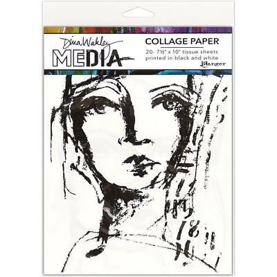Dina Wakley Collage Papers - Faces - 20 Sheets - NEW!