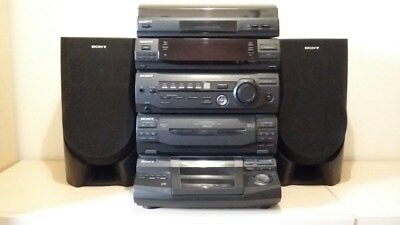 Sony XB3 Hi FiStereo System in black with speakers. Excellent condition.