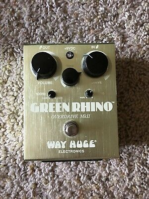 Way Huge Green Rhino Awesome Guitar Overdrive Pedal.  Looks and sounds great!