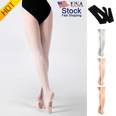 US  Women Convertible Tights Dance Stocking Footed Socks Ballet Pantyhose Sanwoo