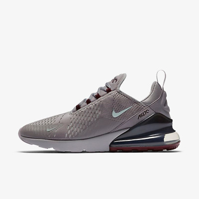 NIKE AIR MAX 270 Grey Silver Burgundy Red Mens Sneakers Trainers Shoes 8 9 10 11