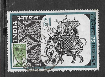 INDIA POSTAL ISSUE - 1973 USED STAMP - INDIPEX STAMP EXHIBITION, (2nd ISSUE)
