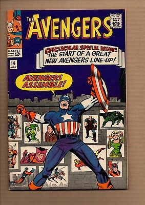 Avengers (1964) #16 - Quicksilver + Scarlet Witch join - Fine