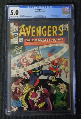 Avengers (1964) #7  Silver Age CGC 5.0 Universal Grade
