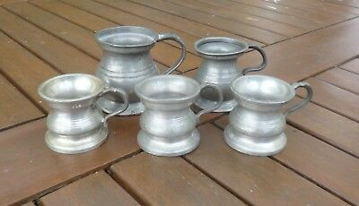 Fantastic Collection of Victorian and Later Pewter Measures.