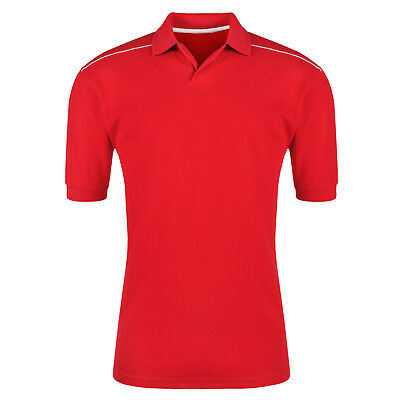 New Mens Polo Shirt Short Sleeve Plain Pique Top Sports Style Fit T Shirt Tee