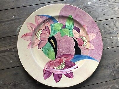 Grays pottery hand painted floral plate,  Art Deco