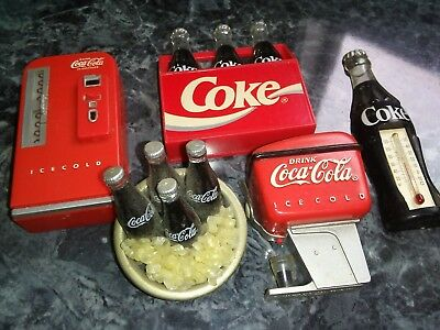 5 piece Coca Cola Magnets Vintage Preowned