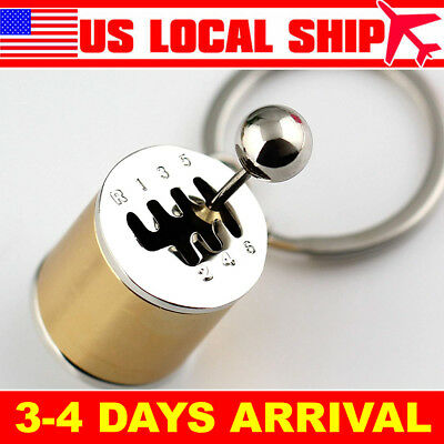 JDM Racing Neon Neo Chrome Gear Shift Six Speed Manual Gearbox Keychain 3 Pack