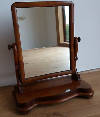 Lovely Antique Victorian Mahogany Dressing Table Mirror/ Swing Mirror.