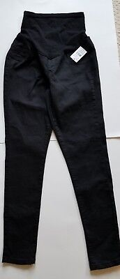 NWT Oh Baby By Motherhood Black Secret Fit Belly Maternity Skinny Jeans Size M