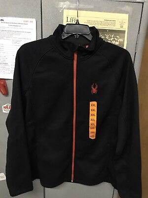 NWOT Spyder Men's Outbound full Zip Midweight Core Sweater Black Red  Size XXL