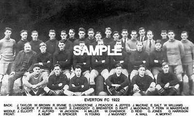 Everton FC 1922 Team Photo