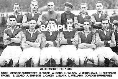 Aldershot FC 1933  Team Photo