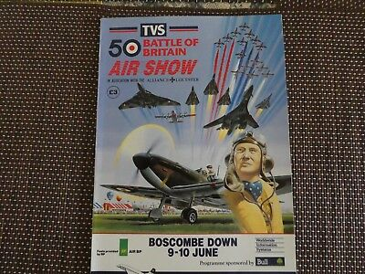 Battle of Britain 50 Air Show 1990 Programme.Boscombe Down.+ ticket + 2 stickers
