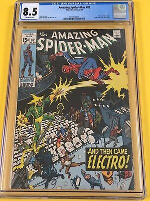Marvel Amazing Spider-Man #82 CGC 8.5 New Case (AND THEN CAME ELECTRO!)