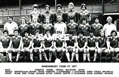 Shrewsbury Town FC 1977 Team Photo