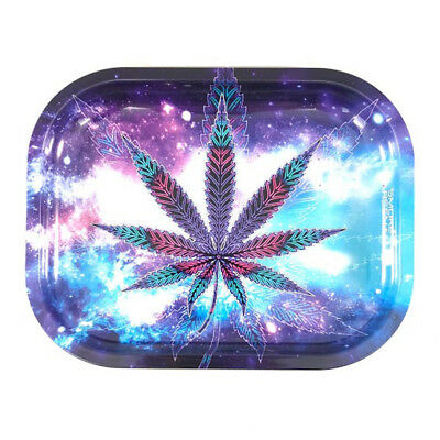 """Smoke Arsenal Premium Rolling Tray /""""Psychedelic Space Leaf/""""  7/""""x5.5/"""""""