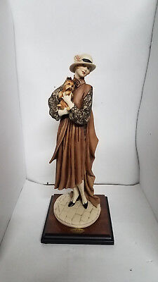 Genuine Giuseppe Armani Florence Young Lady With Yorkshire Figurine 0486C
