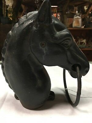 Vintage Cast Iron Horse Hitching Post Topper