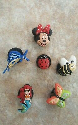 Lot of 6 Jibbitz Croc Clog Shoe Charms Disney For Accessories Wristband