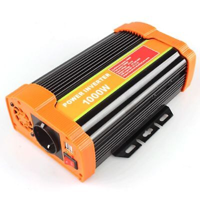 1000W DC 12V to AC 220V Car Power Inverter Charger Converter Adapter EU Plug