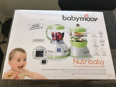 Babymoov Nutribaby 5 in 1 Baby Food Maker with Steam Cooker Blend Puree New