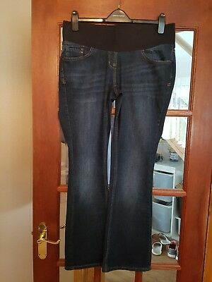 "Ladies Next ""Bootcut"" Maternity Jeans Under Bump, Size 12, Excellent Condition"