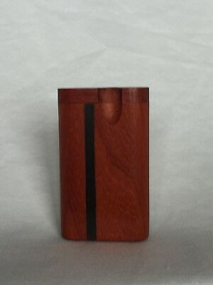 "3"" Dugout One Hitter Paduk Wood Twist Top With Aluminum Cigarette"