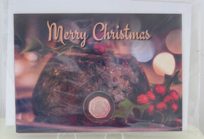 2006  ISLE OF MAN CARDED CHRISTMAS 50p  CHRISTMAS PUDDING  DF WITH COA UNC