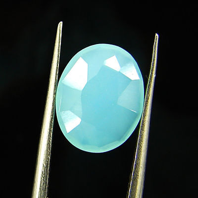 2.10 Ct Natural Beautiful Faceted Blue Chalcedony Loose Gemstone - H 3783