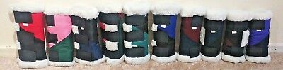 Soft Fleece Lined Travel Boots, Stable Boots, Leg Wrap (Set of 4)