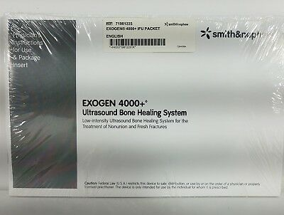 Exogen 4000+ Ultrasound Bone Healing System Physicians instruction booklet