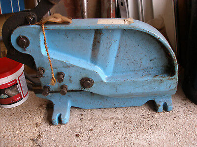 An English Made Heavy Duty Bench Sheet Metal Guillotine Cutter New Old Stock