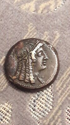 Ancient Egypt Coin. Ptolemy. Cleopatra As Isis.