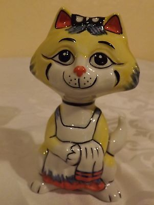 Lorna Bailey Mothers day Cat BUSY MUMMY Limited Edition 37/75 Signed in Blue