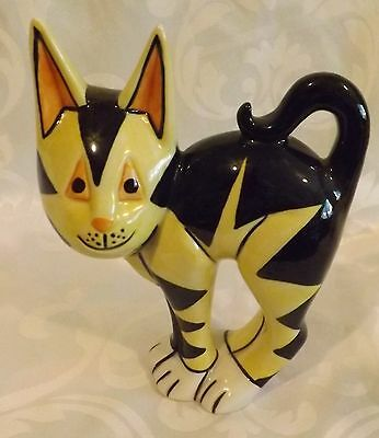 Very RARE Lorna Bailey Cat FLO Black & Yellow Colourway 1/6 Signed in Blue