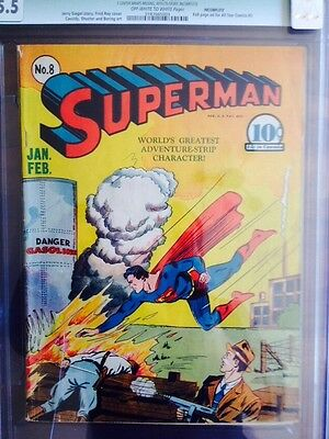 Superman #8 1941 CGC 5.5 Golden Age
