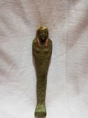Ancient Egyptian BC Antique Ushabti Faience Ptolemaic Period Shabti C300/350 BC