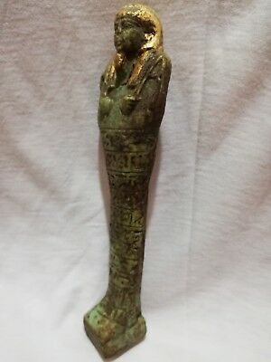 Circa 664-332BC Ancient Egyptian Glazed Ushabti (SHABTI) With HIEROGLYPHICS BC