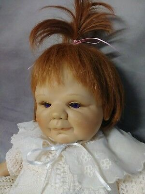 1994 REBORN SHEILA MICHAEL DOLL SIGNED # 975 truly real heavy jointed ginger wig