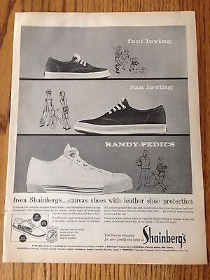 """1963 Shainberg's Shoes ad from Life Magazine, Print Ad 10.5""""x14"""""""