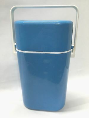 Retro DECOR Two Bottle Wine Cooler With Freezer Bottle Sky Blue and White GC 1