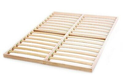 Slatted Bed Base Beech Wood Kingsize 5ft x 6ft6 Orthopedic Easy assemble Slats