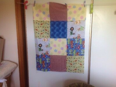 Unfinished Quilt Top.  Simple Squares. Approx 92 X 69 Cm