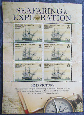 2009 British Indian Ocean Territory Mint Stamp set, HMS Victory, Unmounted