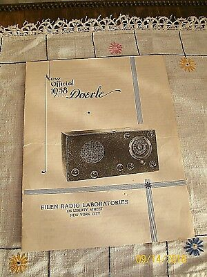 1938 Official Doerle D-38 Manual from Eilen Radio Labs NYC, NY / EX Condition