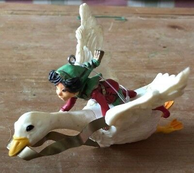 "Hallmark Ornament 1981 ""Christmas Fantasy"" (Elf on Flying Goose)"